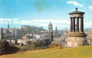 Scotland, UK Old Vintage Antique Post Card View from Calotn Hill Edinburgh 1971