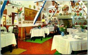 Vintage MADRID, Spain Postcard LA BARACA Spanish Restaurant Interior View - 1967