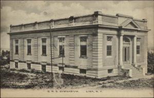Lima NY GWS Gym c1910 Postcard