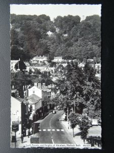 Derbyshire MATLOCK BATH South Parade & Abrahams Heights c1950's RP Postcard