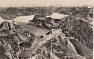 Switzerland, Suisse, Pilatus Kulm, Blick auf den Vierwaldstattersee, Postcard