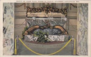 Maryland Annapolis Crypt Of John Paul Jones In Naval Academy