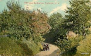 1910 Rochester New York View Dugway automobile postcard 7216