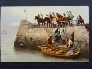 A LOST CAUSE. FLIGHT OF KING JAMES II Andrew Carrick Gow Old Postcard Photochrom