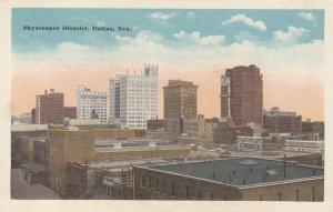 DALLAS , Texas, 1910s ; Skyscraper District