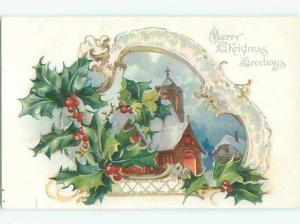 Divided-Back CHRISTMAS SCENE Great Postcard W8625
