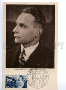 173346 WWII AVIATION Lieutenant-Colonel DAGNAUX Old Maxi card