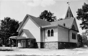 Red Granite Wisconsin~Congregational Church~Wind Vane on Roof~c1930s RPPC