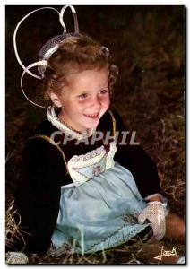 MODERN CARD Breton Bretgane Child Young girl in suit of Chateauneuf Faeu