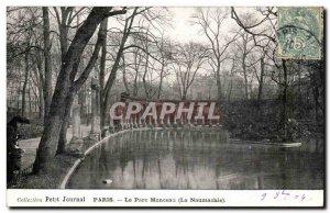 Old Postcard Paris Parc Monceau (the Naumachia)