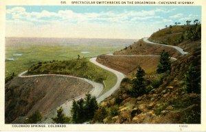 CO - Colorado Springs. Switchback on the Broadmoor-Cheyenne Hwy