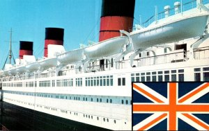 California Long Beach Queen Mary and British Flag