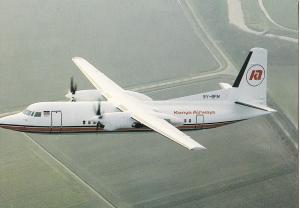 Kenya Airways, Fokker 50, unused Postcard