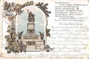 BG19503 gruss vom niederwald germany litho  postcard