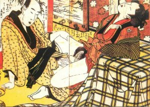 Shunga Japan by Utamaro postcard