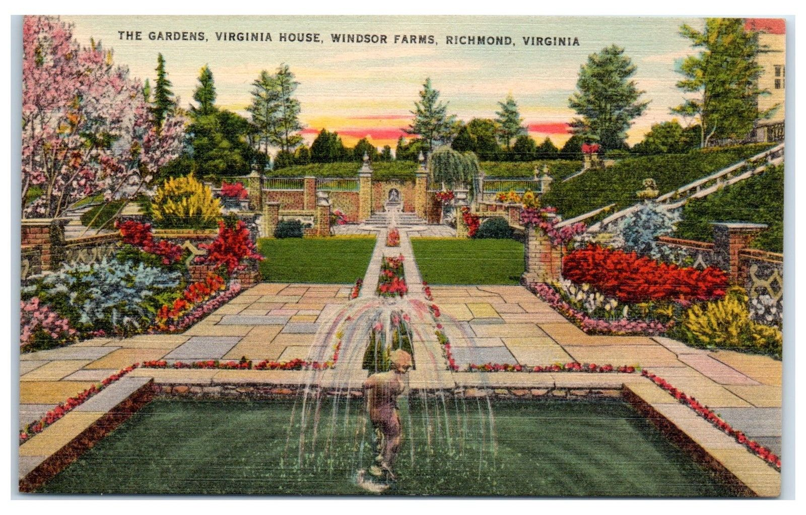 Mid-1900s The Gardens, Virginia House, Windsor Farms, Richmond, VA ...