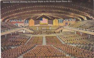 New Jersey Ocean Grove Interior Auditorium Showing Largest Organ In The World