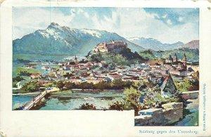 Salzburg gegen den Untersberg Switzerland 1900s postcard Austria