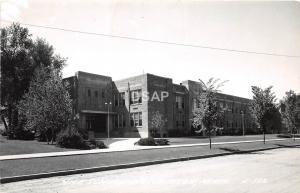 C83/ Hutchinson Minnesota Mn Real Photo RPPC Postcard 1954 High School Building