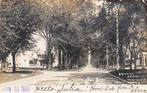 Fairfield Iowa~Burlington Street East~Nice Homes~1908 Real Photo Postcard~RPPC