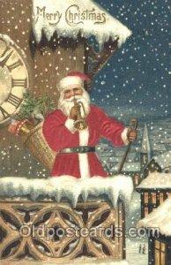 Silk Santa Claus 1909 close to perfect corners, postal used 1909