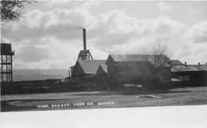 c1910 Sanger Fresno California Hume Bennett Lumber Mill RPPC Besaw Postcard