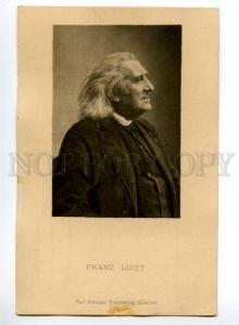 120940 Franz LISZT Hungarian COMPOSER PIANIST Old Paul Klemann