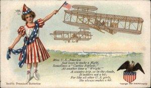 Swift's Premium Butterine Butter Pioneer Avitation Postcard AMERICAN BIPLANES