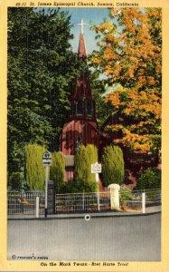 California Sonora St James Episcopal Church 1951 Curteich