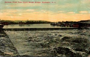 New York Rochester Genesee River From Court Street Bridge 1909