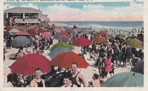 ASBURY PARK, New Jersey, 1910-1930; Scene On The Beach At Splanade Review
