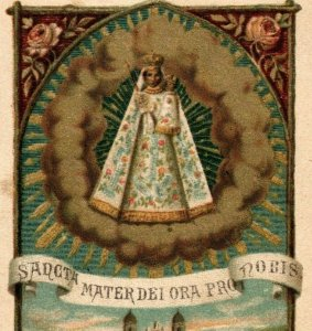 1880s-90s Religious German Language Santo Maria Beneiger Switzerland P222