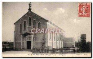 Old Postcard Saint Pierre Des Corps l & # 39Eglise