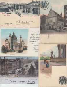 VIENNE VIENNA WIEN AUTRICHE AUSTRIA 61 Cartes Postales 1900-1940.