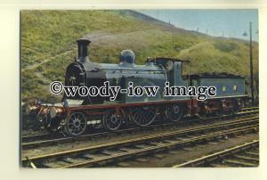 ry985 - Caledonian Railway Engine no 123 - postcard