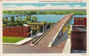 Crossing Arkansas River into Oklahoma,  Fort Smith,  Arkansas,  30-40s