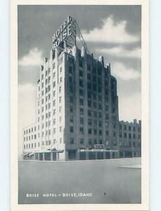 Damaged-Back 1940's BOISE HOTEL Boise Idaho ID B3910