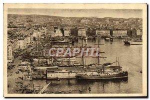 Postcard Old Marseille Vieux Port A Corner