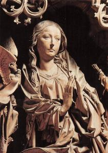 Maria Aus dem Marienaltar v. Tilman Riemenschneider Herrgottskirche Postcard