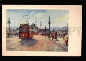 027093 TURKEY CONSTANTINOPLE Karakeui bridge Vintage PC