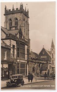 Dorset; Dorchester, Museum & St Peter's, No 73556 RP PPC, Note Car Reg TK 7902