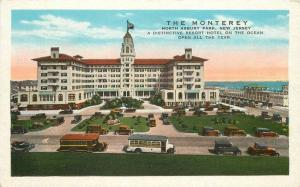 Autos Buses 1920s The Monterey Hotel Asbury Park New Jersey Kropp postcard 8470