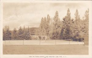 Tennis Courts Lake Tarleton Club Pike New Hampshire 1920 Real Photo