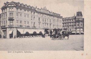 Hotel D'Angleterre Copenhagen Kobenhavn Denmark Old Postcard