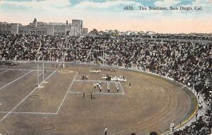 San Diego California Stadium Football Game Antique Postcard K10258