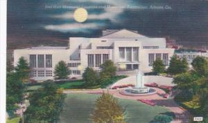 Georgia Atlanta Joel Hurt Memorial Fountain and Municipal Auditorium At Night