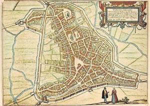 Netherlands Plattegrond van's-Hertogenbosch door G. Braun en F. Hogenberg