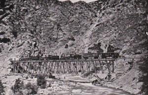 Central Pacific Railroad No 7 Devil's Gate Weber Canyon Utah Union Pacif...