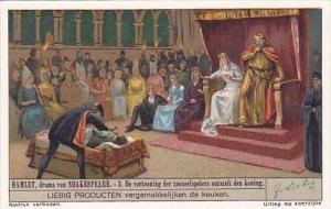 Liebig Vintage Trade Card S1327 Hamlet 1936 No 3 De vertooning der tooneelspe...