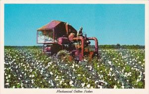 Mechanical Cotton Picker Used In The South